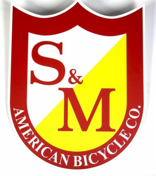 S&M STICKER SHIELD LOGO BIG SINGLE Red/White/Yellow