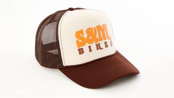 """S&M TRUCKERHAT """"KEEP ON TRUCKIN"""" Brown/Tan/Brown"""