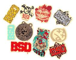 BSD STICKERS 2014 DESIGNS 10-PACK