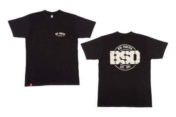 """BSD T-SHIRT """"ESTABLISHED"""" Black"""