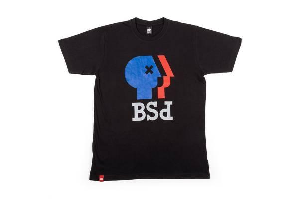 "BSD T-SHIRT ""PUBLIC"" BROADCASTING SERVICE Black"