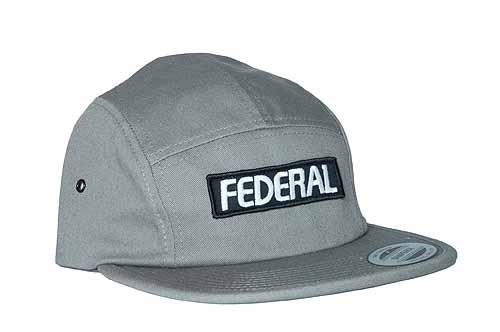 FEDERAL HAT 5-PANEL PATCH Grey