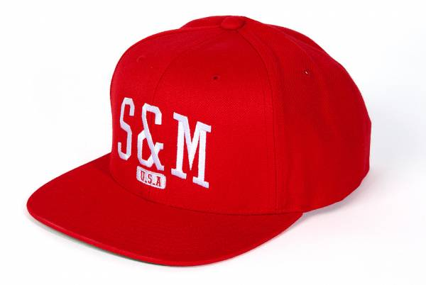 S&M HAT CREW CLASSIC SNAP BACK Red