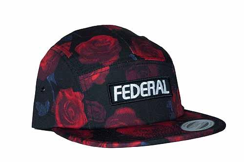 FEDERAL HAT 5-PANEL PATCH ROSES