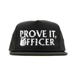 "RUSTY BUTCHER HAT ""PROVE IT"" Black"