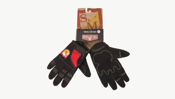 S&M SHIELD GLOVES BY BILTWELL Black