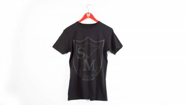 S&M T-SHIRT BIG SHIELD BLACK PRINT Black