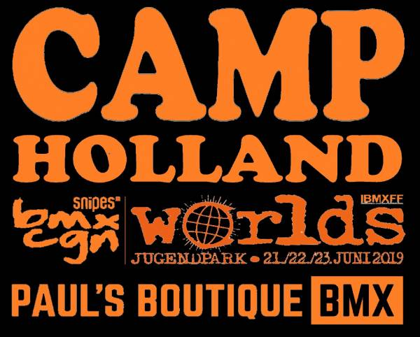 AA CAMP HOLLAND 2019 SHIRTS Black with Orange print