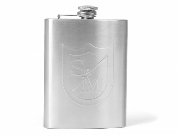 S&M DRINK HIP FLASK Silver