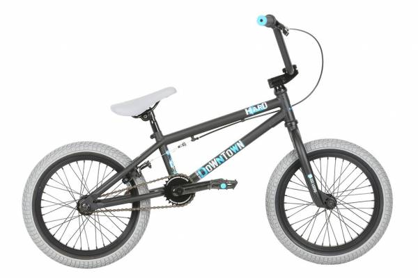"HARO DOWNTOWN 16"" Matt Black WITH BLACK TIRES (STOCK)"