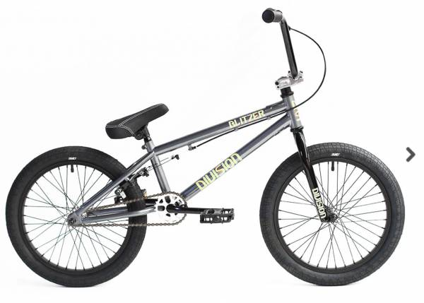 """DIVISION BLITZER 2021 COMPLETE BIKE 18"""" (1x IN STOCK) Metal Grey/Polished"""