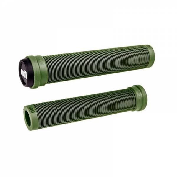 ODI GRIPS SLX FLANGELESS 160MM LONG GRIPS Army Green