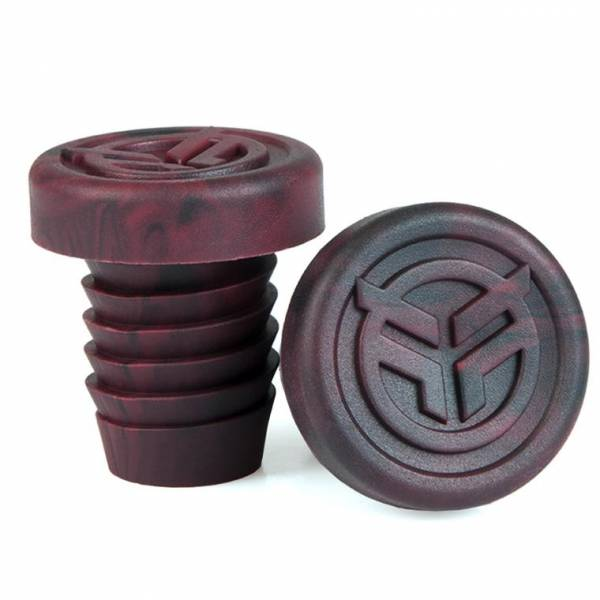 FEDERAL BAR ENDS RUBBER INCL STEEL RING Black/Red Marble