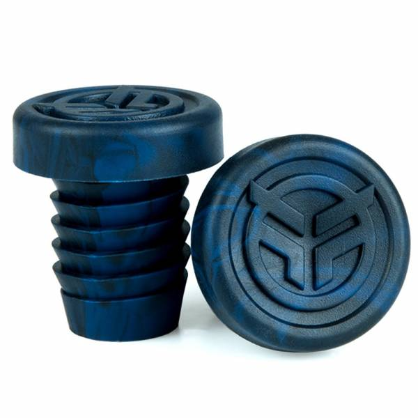 FEDERAL BAR ENDS RUBBER INCL STEEL RING Black/Blue Marble