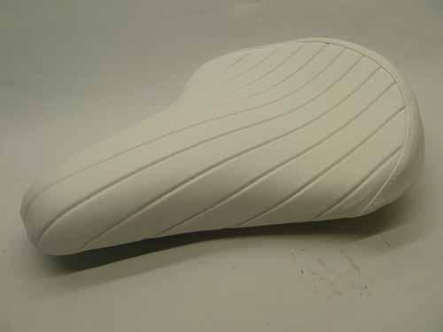 BILTWELL SOLO SEAT TUCK & ROLL White