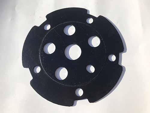 CHAIN WHEEL SPIDER DISC ALU SUPER DELUXE NOS Black
