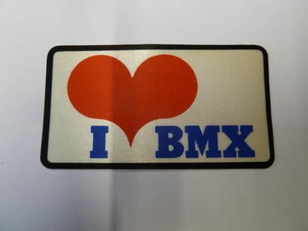 "OLD SCHOOL STICKER ""I LOVE BMX"""
