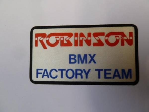"OLD SCHOOL STICKER ""ROBINSON BMX FACTORY TEAM"""