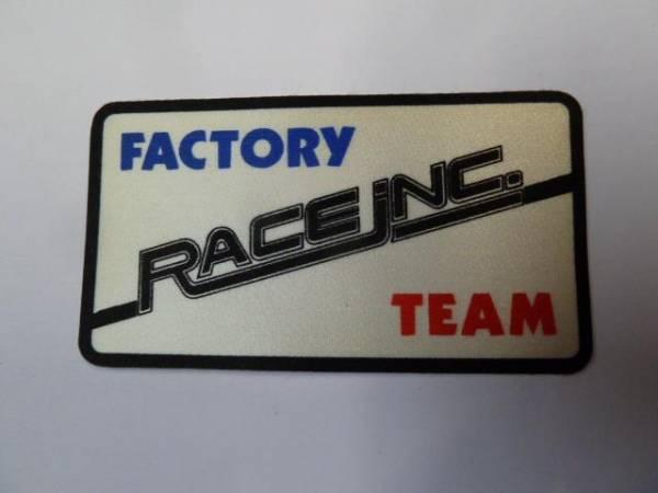 "OLD SCHOOL STICKER ""FACTORY RACE INC TEAM"""