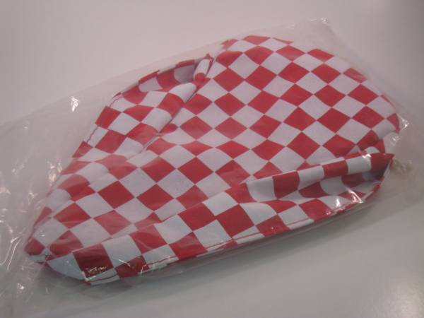 SEAT COVER CHECKERED Red/White
