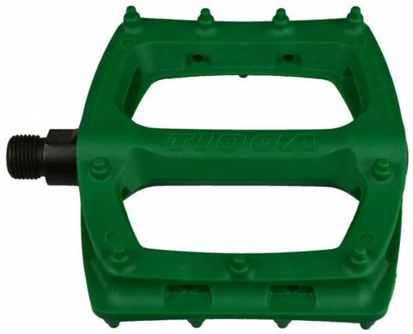 """TIOGA BMX SUREFOOT PLASTIC PEDALS 9/16"""" Green"""