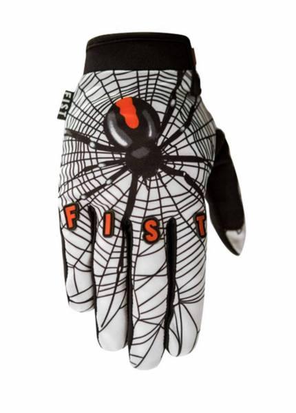 FIST GLOVES RED BLACK SPIDER XL ONLY White