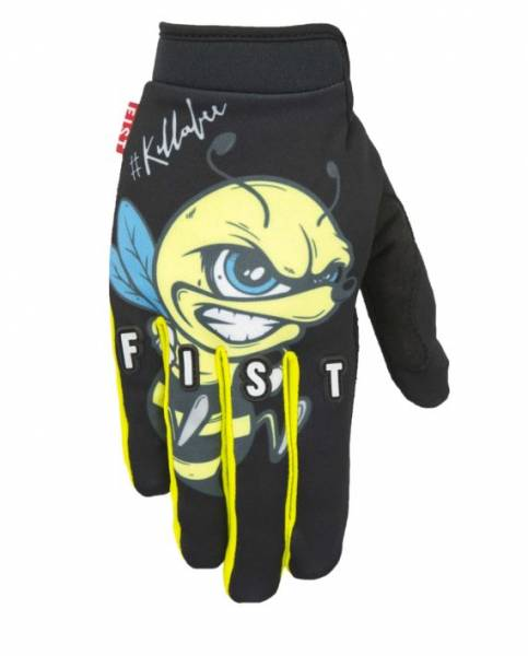 FIST GLOVES ANGRY BEE Black/Blue/Yellow