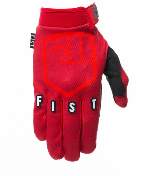 FIST GLOVES STOCKER STRAPPED Red