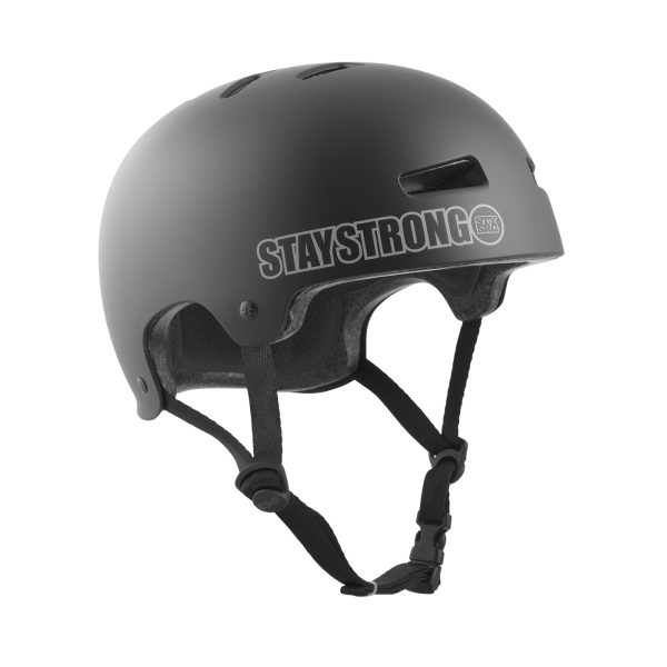 TSG HELMET EVOLUTION V2 STAY STRONG Satin Black