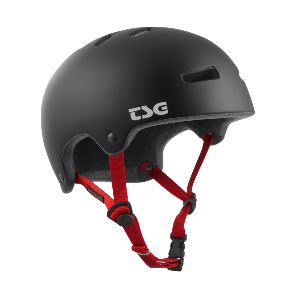 TSG HELMET SUPERLIGHT Satin Black / Red Straps
