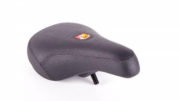 S&M SEAT PIVOTAL FAT PIV SHIELD LOGO Black