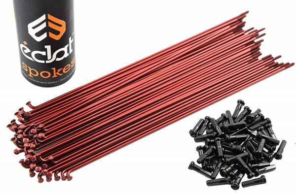 SPOKES 184mm ECLAT STAINLESS 50PC Translucend Red